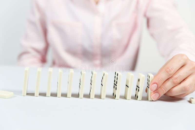 Planung, Gefahr und Strategie im Geschäft stockfoto