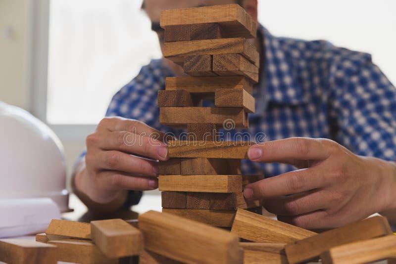 Planung, Risiko und Strategie des Projektleiters in Architekten a lizenzfreie stockfotos