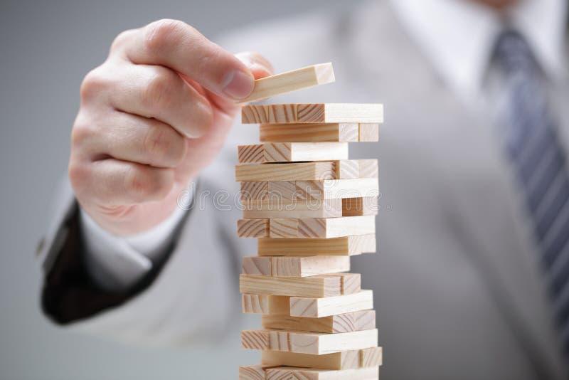 Planung, Risiko und Strategie im Geschäft stockfoto