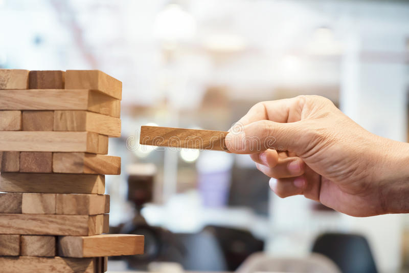 Planung, Risiko und Strategie im Geschäft stockbild