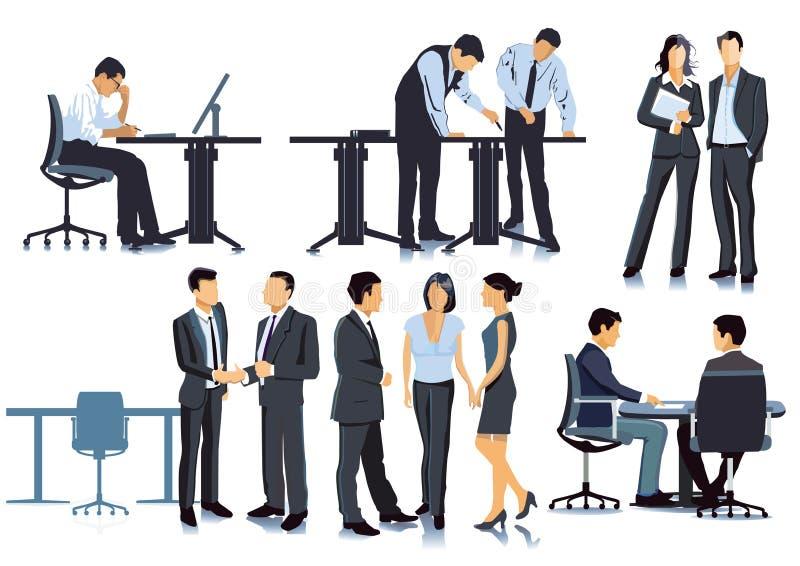 Planung und Sitzung im Büro lizenzfreie abbildung
