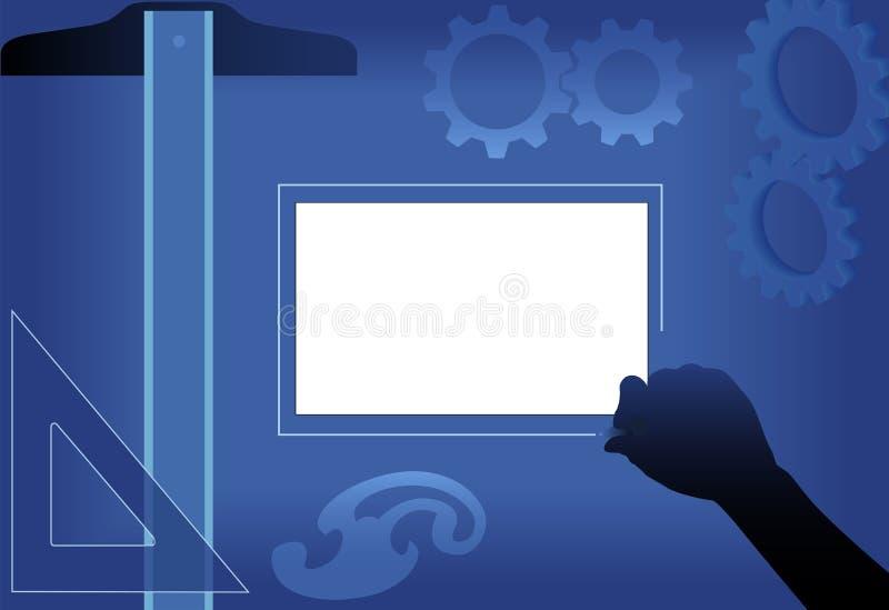 Planungs-Auslegung Lightbox Reißbreit-Entwurf lizenzfreie abbildung