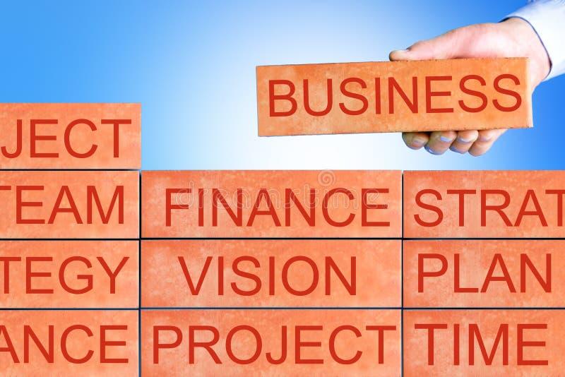 Planungs-Konzept, Geschäftsmannprojekt-Plangeschäft lizenzfreie abbildung