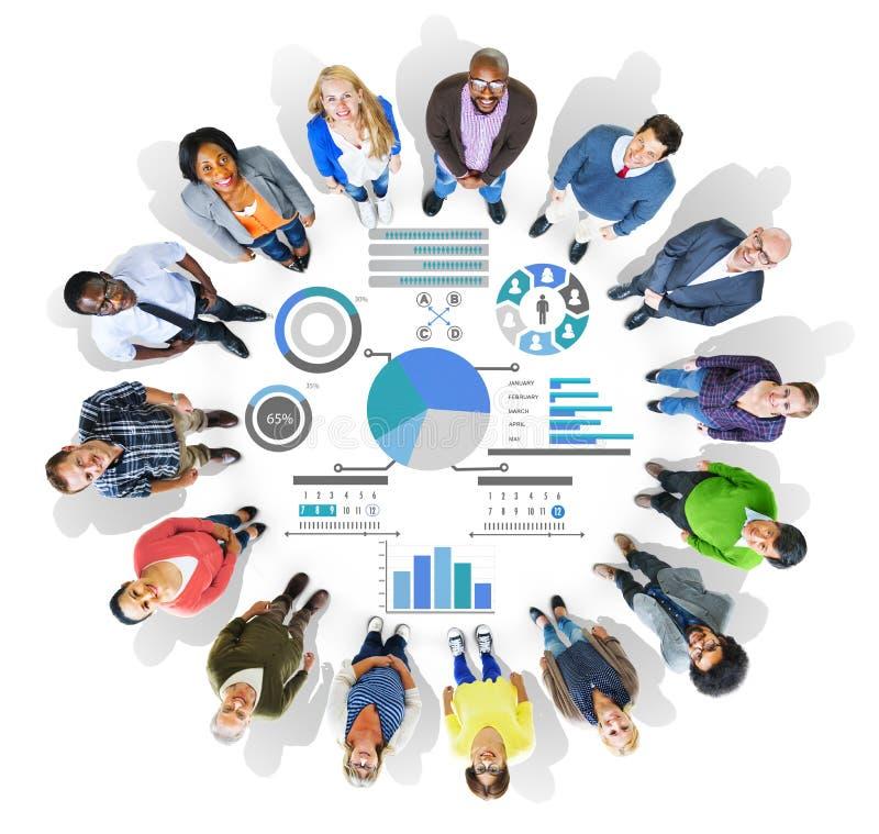 Planungs-Plan-Strategie-Daten-Informations-Politik-Visions-Konzept lizenzfreie abbildung