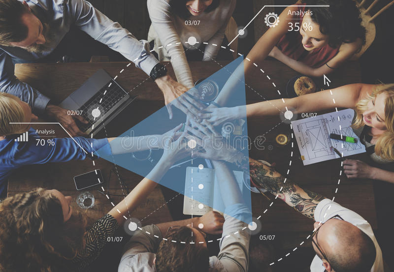 Planungsfortschritts-Diskussions-Strategie-Brainstorming-Konzept stockfotografie