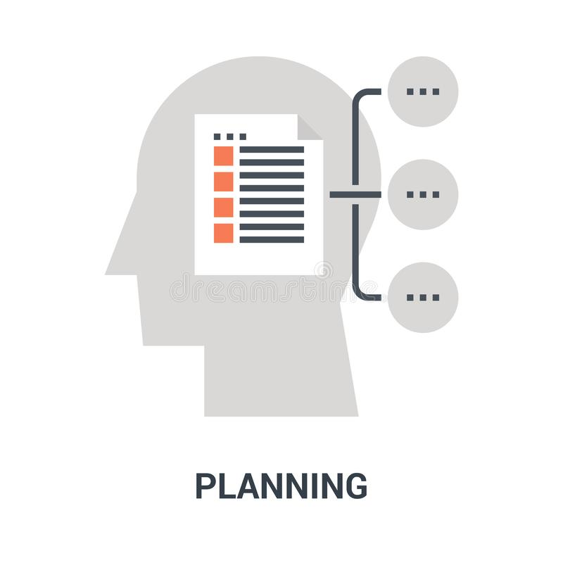 Planungsikonenkonzept lizenzfreie stockfotos
