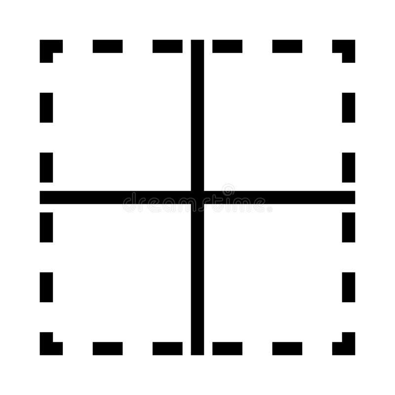 Planvektorlinie Ikone vektor abbildung