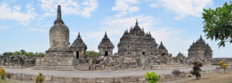 Plaosan buddistisk tempel i Yogyakarta, Indonesien fotografering för bildbyråer