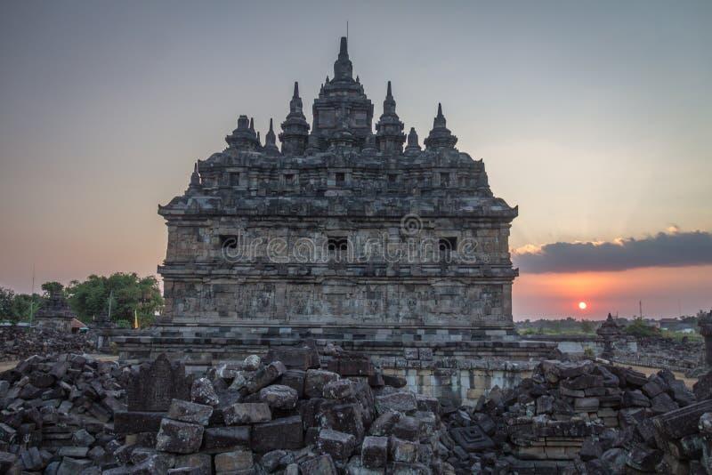 Plaosan tempel arkivfoton