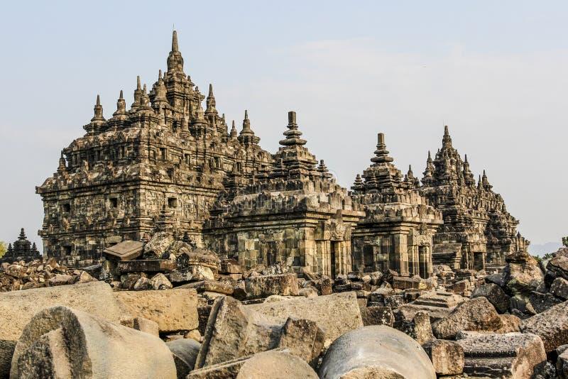 Plaosan tempel i Java Island, Indonesien royaltyfria foton