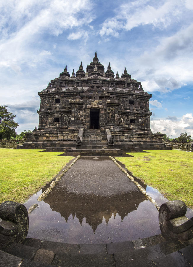 Plaosan Tempel indonesia. Candi Prambanan or Jonggrang is the largest Hindu temple complex in Indonesia, which was built in the 9th century BC. This temple is stock photo