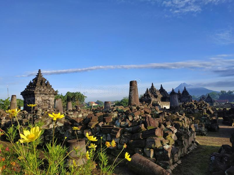 Plaosan tempel, Klaten centrala Java Indonesia royaltyfri foto