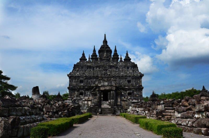 Plaosan tempel på Klaten, centrala Java, Indonesien arkivfoto