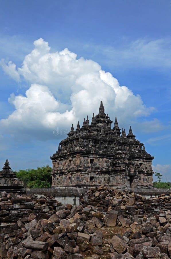 Plaosan tempel på Klaten, centrala Java, Indonesien royaltyfria bilder