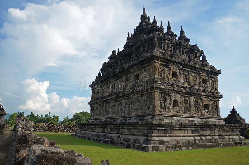 Plaosan tempel på Klaten, centrala Java, Indonesien arkivbilder