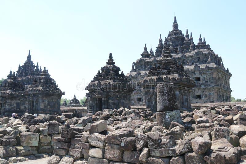 Plaosantempel dichtbij Yogyakarta op het eiland Indonesië van Java royalty-vrije stock afbeeldingen