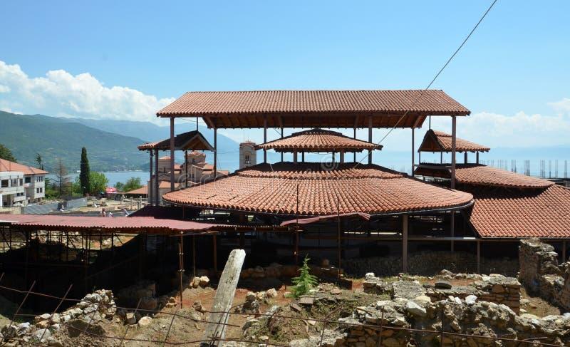 Plaosnik kościół w Ohrid, Macedonia fotografia royalty free
