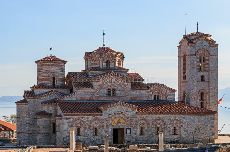 Plaosnik Lub świętego Kliment kościół W Macedonia zdjęcia stock
