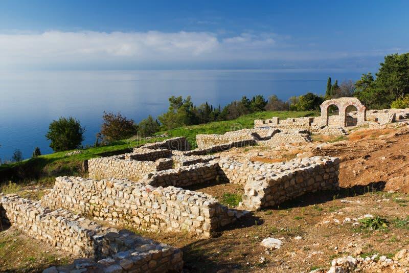 Plaosnik Ruins on Ohrid Lake, Macedonia