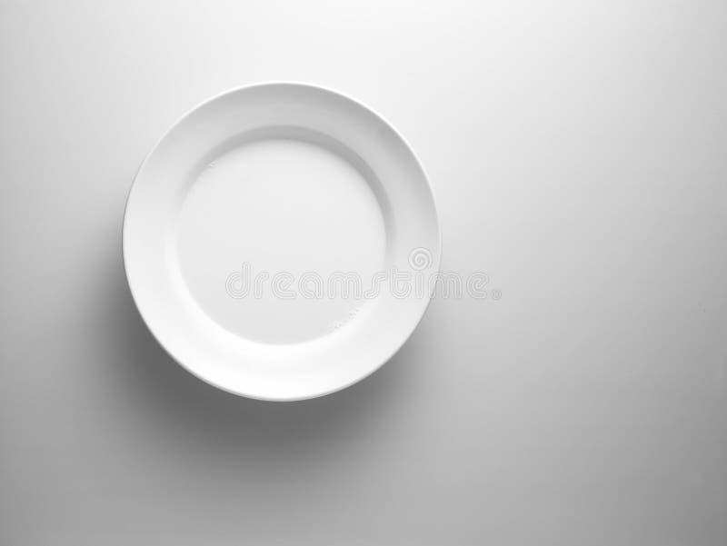 Plaque blanche image libre de droits