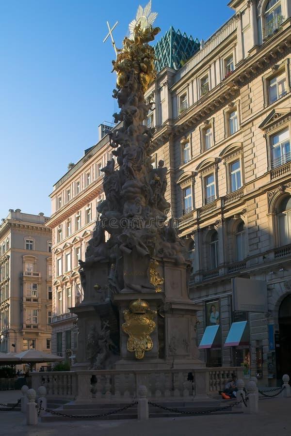 Download Plaque column in Vienna stock image. Image of pestsaeule - 1078545