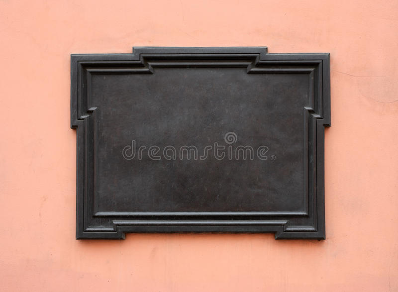 Plaque commémorative blanc image stock