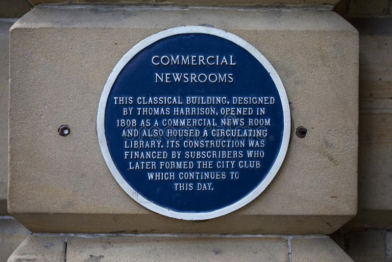 Plaque commerciale de salles de presse à Chester images libres de droits