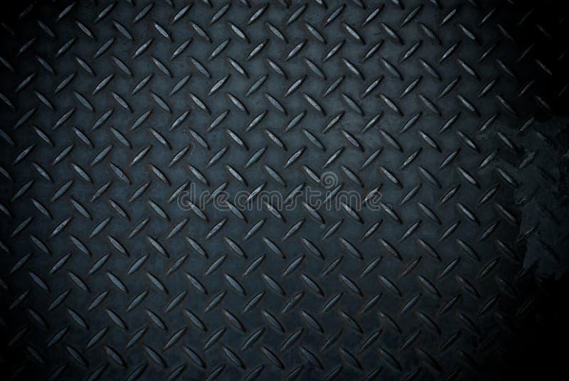 Plaque d'acier de diamant noir photographie stock