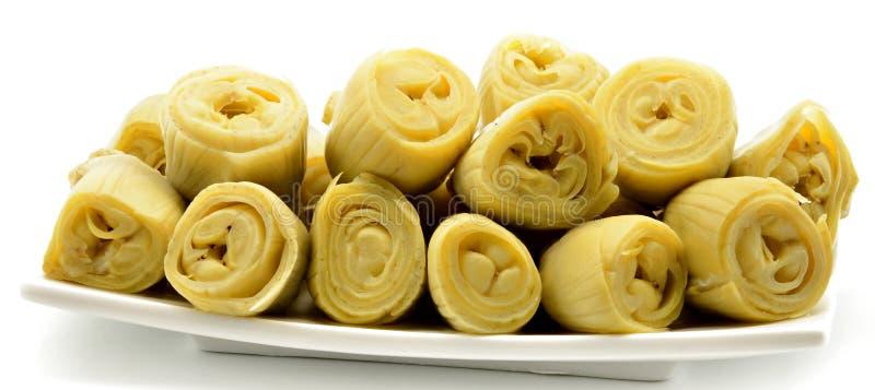 Plaque d'artichauts images stock