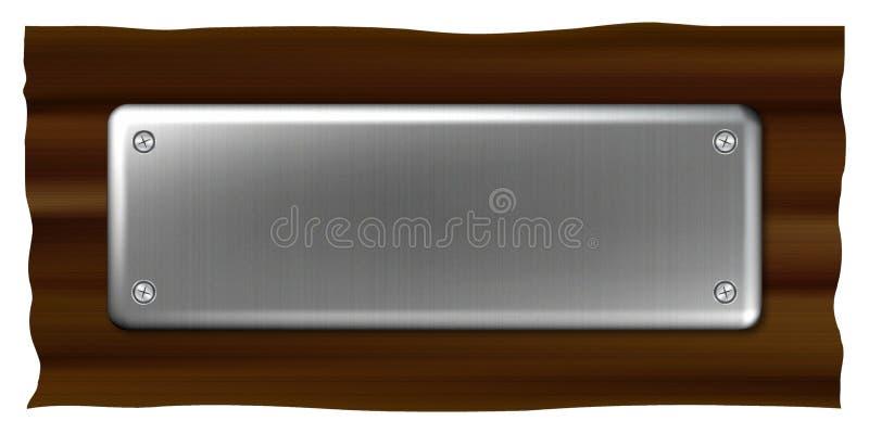Plaque d'identification en métal illustration de vecteur