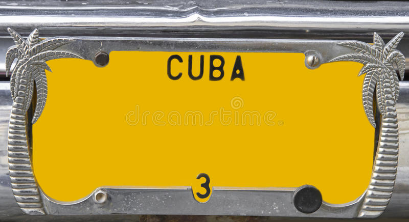 plaque d 39 immatriculation jaune de cru cuba image stock image du numberplate r tro 28689531. Black Bedroom Furniture Sets. Home Design Ideas