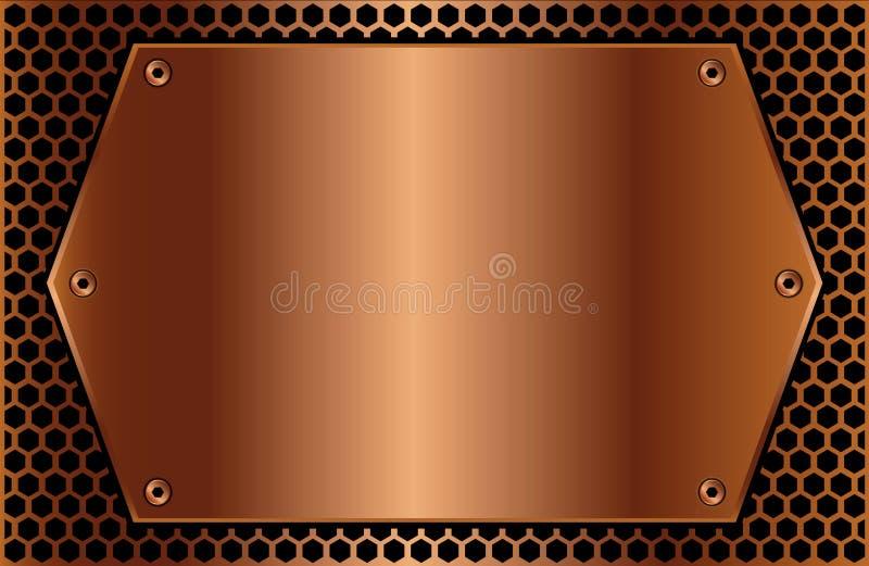 plaque de cuivre hexagonale illustration de vecteur illustration du fond lourd 14240639. Black Bedroom Furniture Sets. Home Design Ideas