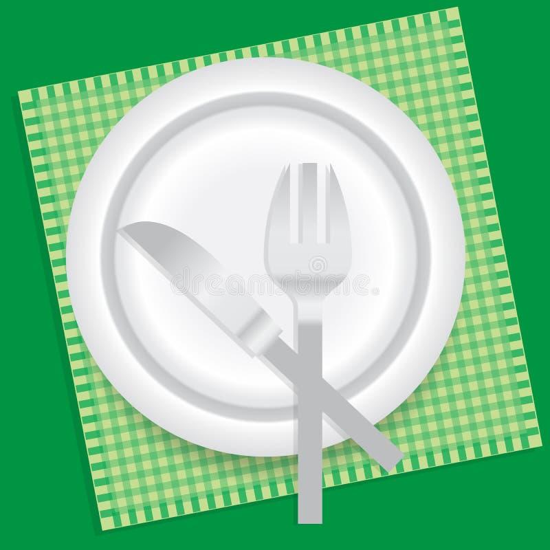 plaque de dîner illustration libre de droits