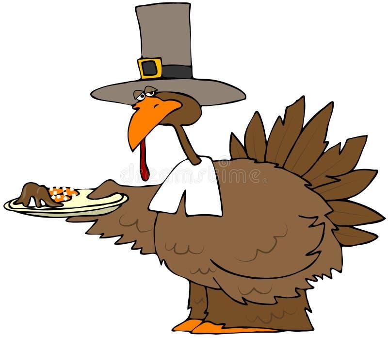 Plaque de dîner de la Turquie illustration de vecteur
