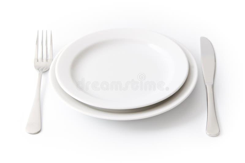 Plaque de dîner vide images stock