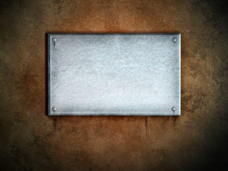 Plaque de métal illustration stock