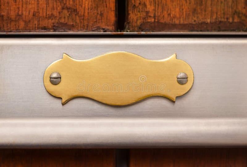 Plaque de métal antique de style image stock