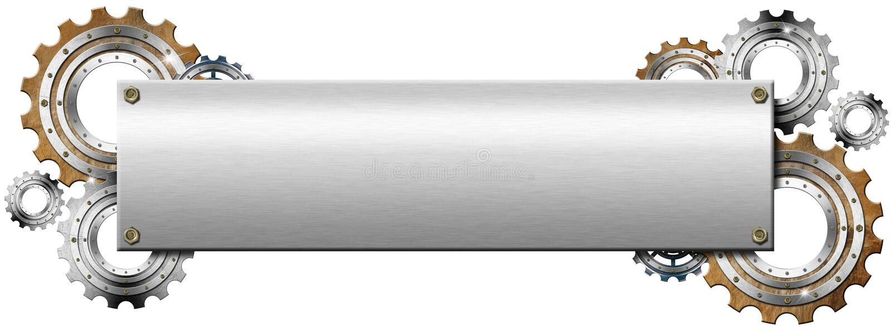 Plaque de métal avec des vitesses illustration stock