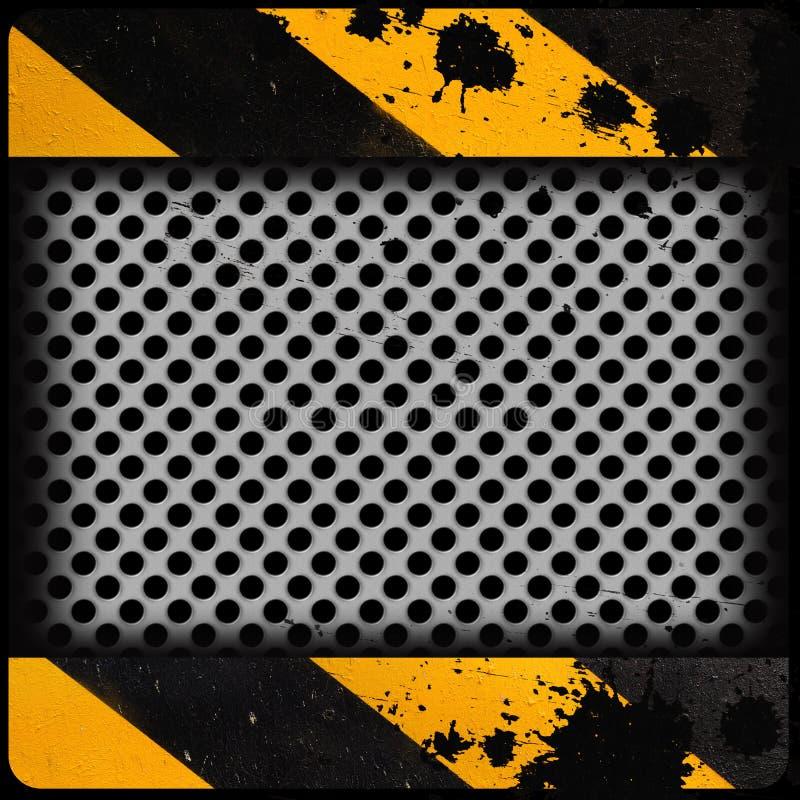 Plaque de métal avec le fond grunge image libre de droits