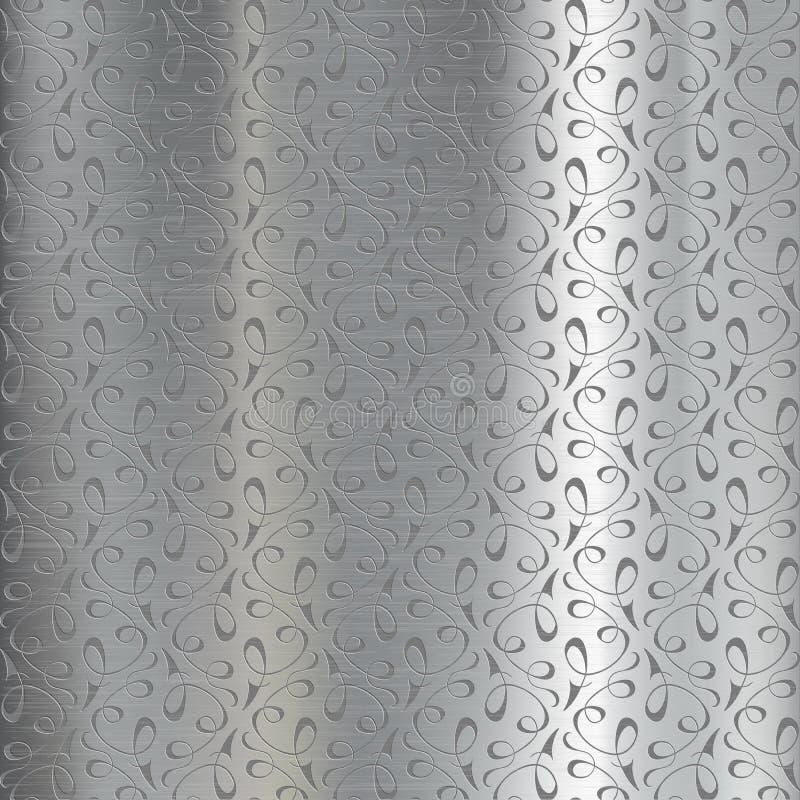 Plaque de métal gravée illustration libre de droits