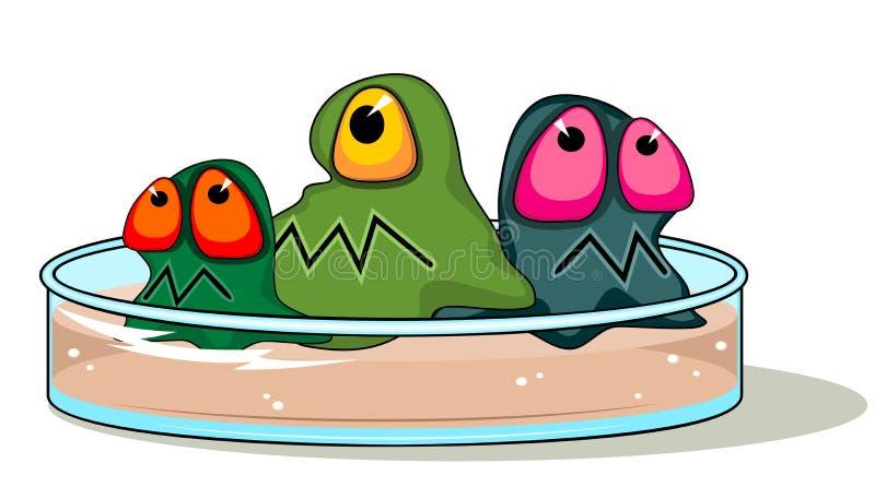 Plaque de Pétri avec des germes illustration libre de droits