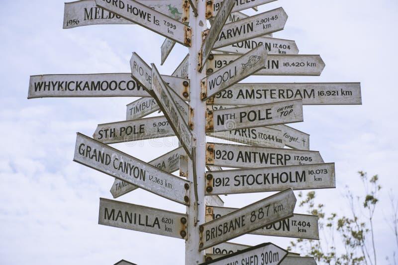 Plaque de rue aux beaucoup pays photos libres de droits