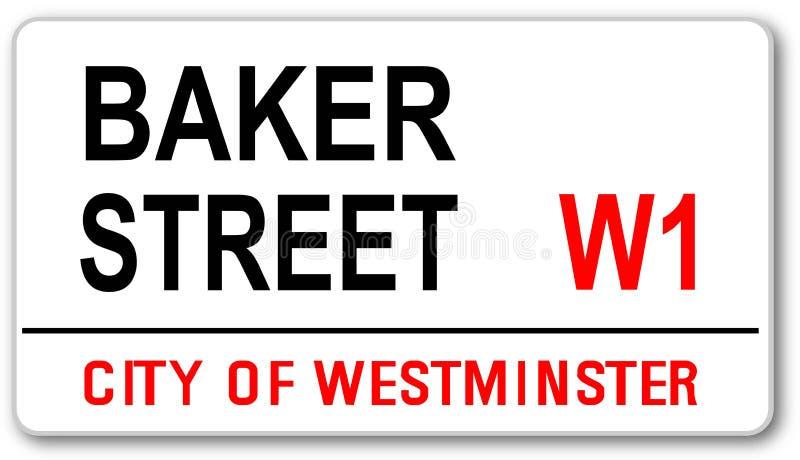 Plaque de rue de Baker illustration stock