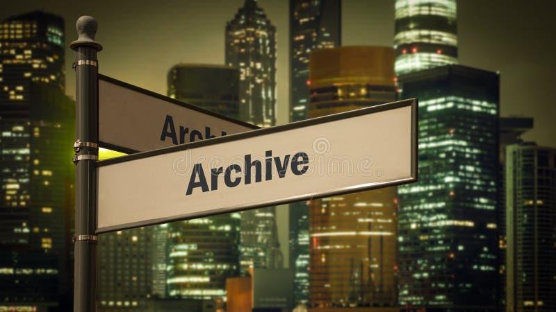 Plaque de rue d'archiver photographie stock libre de droits