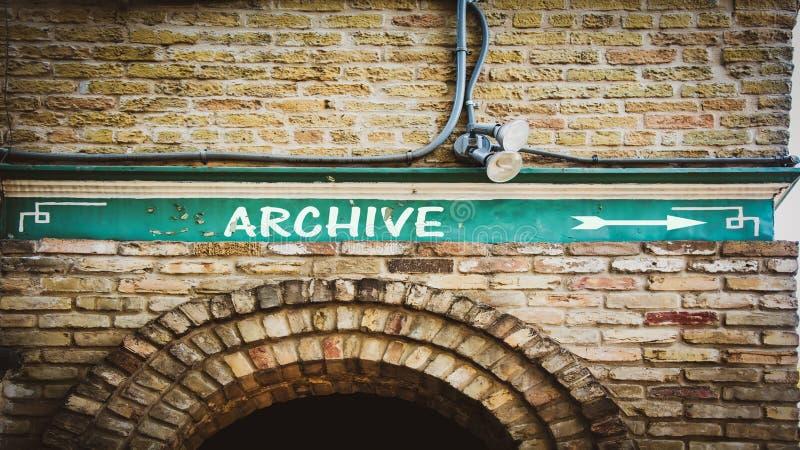 Plaque de rue d'archiver image libre de droits