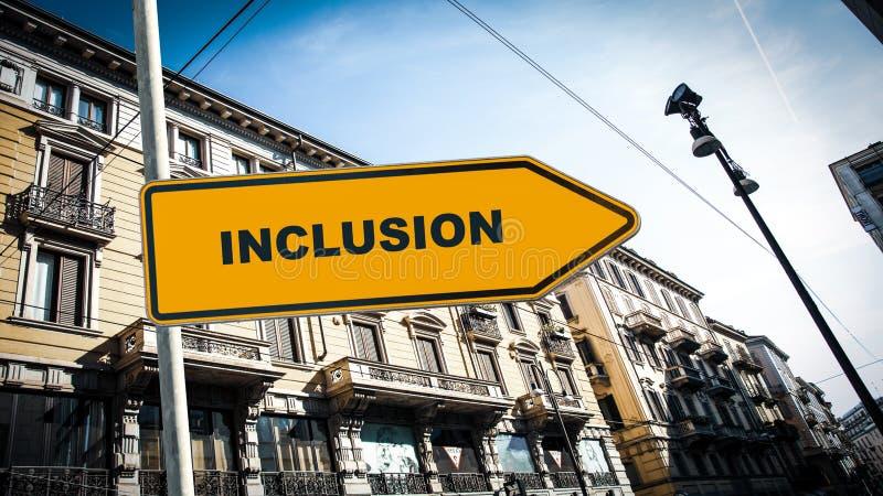 Plaque de rue ? l'inclusion image stock