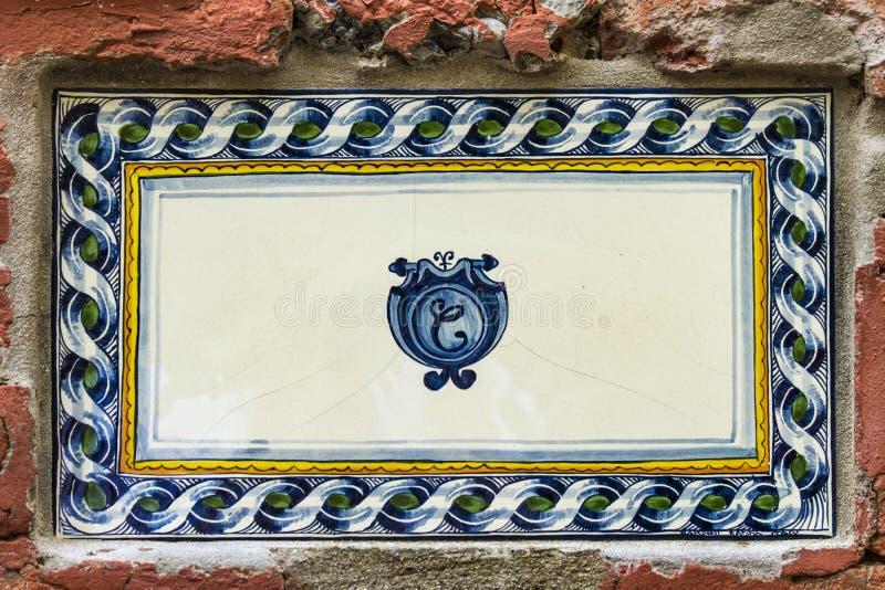 Plaque de rue de Portofino en Italie images stock