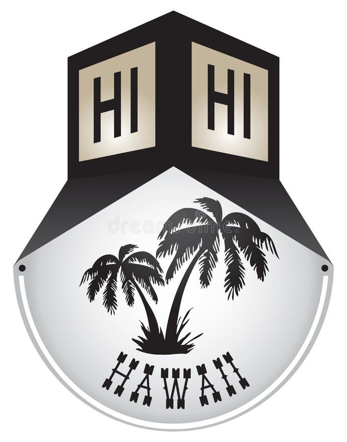 Plaque de rue de vintage pour Hawaï illustration libre de droits