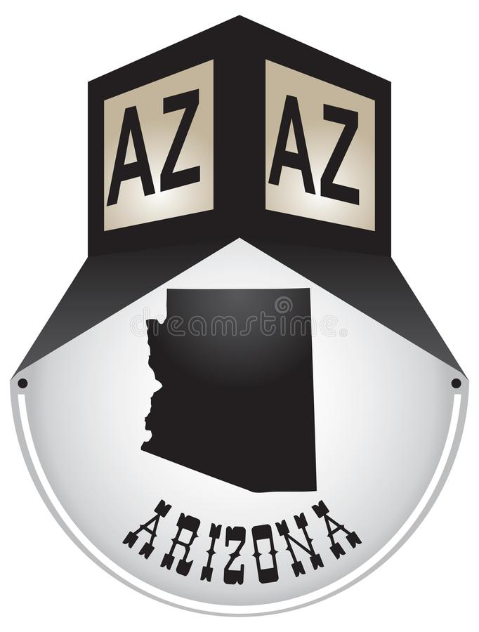 Plaque de rue de vintage pour l'Arizona illustration stock