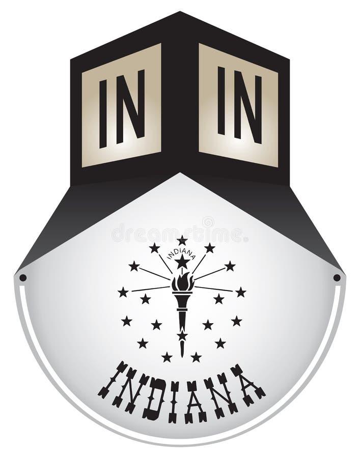 Plaque de rue de vintage pour l'Indiana illustration stock